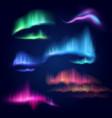 northern lights aurora borealis isolated vector image