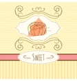 Pastry hand drawn card with vector image vector image