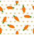 pattern with carrot and heart vector image