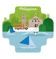 philippines travel and attraction vector image vector image