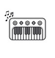 piano musical instrument baby toy cartoon style vector image