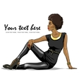 Portrait of beautiful black woman vector image vector image