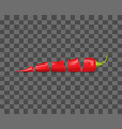realistic detailed 3d red hot chili pepper slice vector image vector image