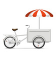 realistic food bike on white background vector image