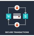 secure transactions vector image vector image