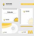seo bulb logo calendar template cd cover diary vector image