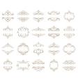 set - calligraphic design elements vector image vector image