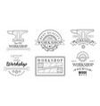 set logos for sawmill vector image vector image