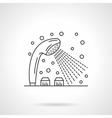 Shower dispenser flat line design icon vector image vector image