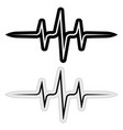 sign sticker music pulse frequency wave vector image vector image