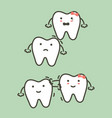 step of wisdom tooth vector image vector image