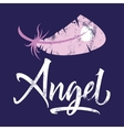 t-shirt printing logo template angel vector image vector image