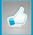 Thumbs up sticker vector image