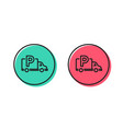 truck parking line icon car park sign vector image