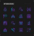 tuberculosis thin line icons set vector image
