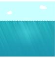 Underwater scene deep under vector image vector image