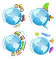 voyage around world vector image vector image