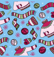 warm winter clothes hygge seamless pattern vector image vector image
