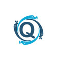 water clean service abbreviation letter q vector image