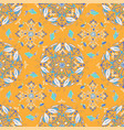 white fish mandala pattern on an orange background vector image