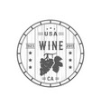 wine logotype vector image