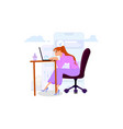woman programmer posture in search ideas flat vector image vector image