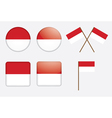 badges with flag of Indonesia vector image