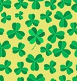 Clover seamless pattern vector image