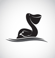 image of an pelican vector image