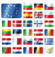 european union flags vector image