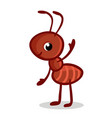 with a cute ant vector image