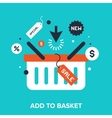Add to basket vector image vector image