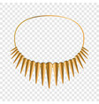 african necklace icon cartoon style