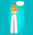 arabic woman in hijab surprised vector image vector image