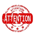 Attention rubber stamp vector image vector image