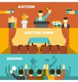 Auction Banners Set vector image vector image