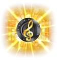 background music in flash treble clef speaker vector image vector image