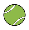ball tennis sport equipment game icon vector image vector image