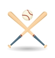Baseball design sport and supplies vector image vector image