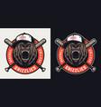 baseball league vintage colorful emblem