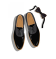 Black classic male shoes top view vector image vector image