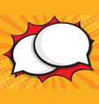 blank speech bubble comic book pop art background vector image vector image