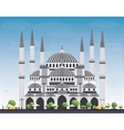 Blue Mosque in Istanbul Turkey vector image