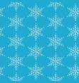 blue snowflakes on white background vector image vector image