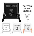 boxing ring board icon in cartoon style isolated vector image vector image