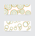 Business banners with abstract colored circles vector image vector image