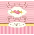 candies hand drawn card vector image vector image