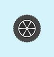 car wheel with tyre flat icon on blue vector image vector image