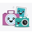 cartoon icon set Kawaii and technology design vector image vector image