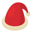christmas hat icon isometric 3d style vector image vector image
